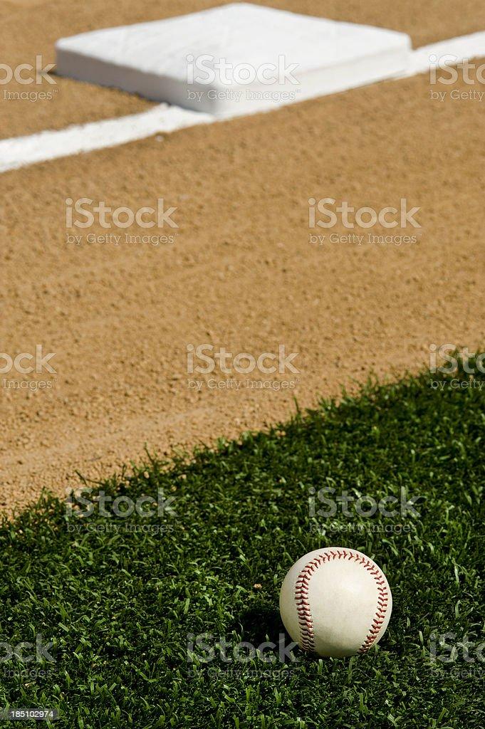 Baseball - First base stock photo