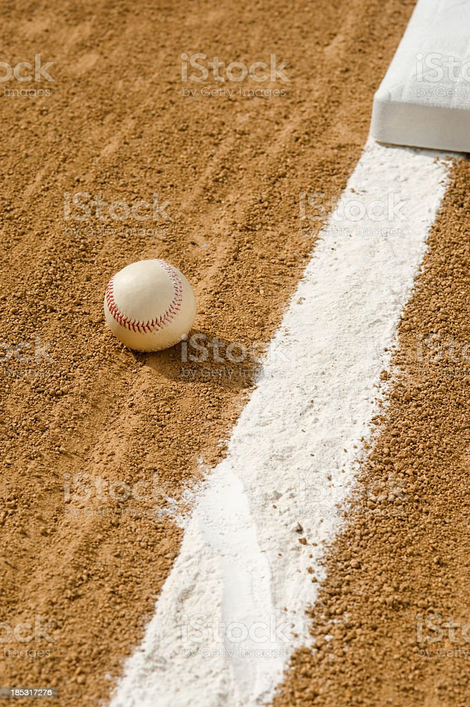 Baseball - Foul Ball royalty-free stock photo