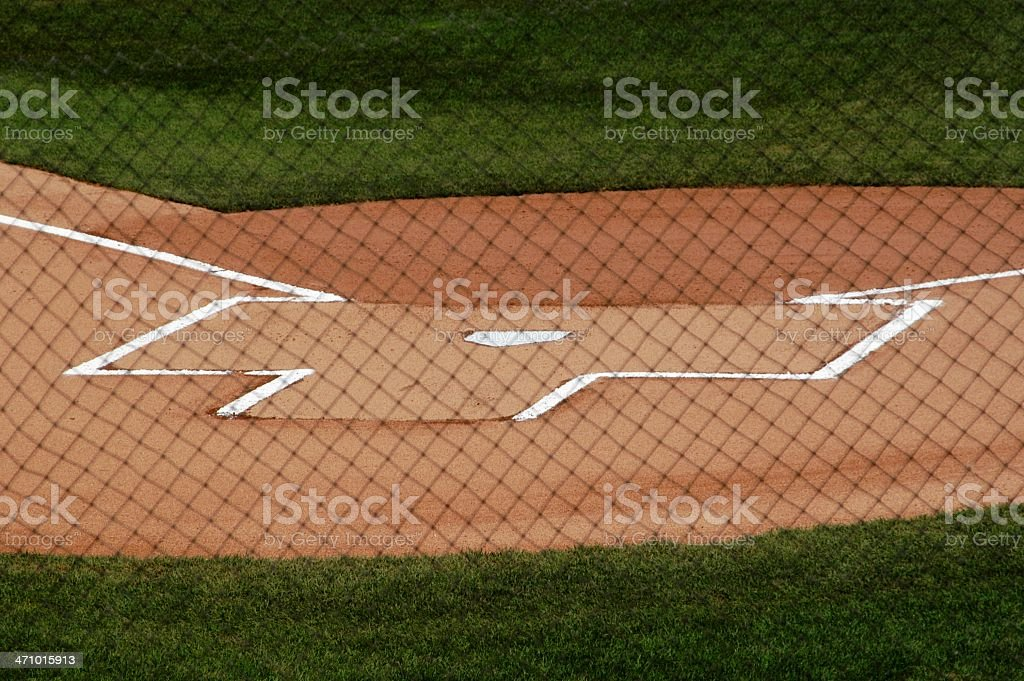 Baseball Game - Batter's Box royalty-free stock photo