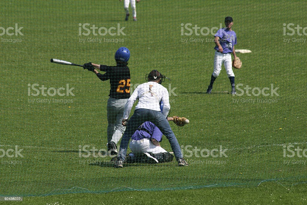Baseball game in England royalty-free stock photo