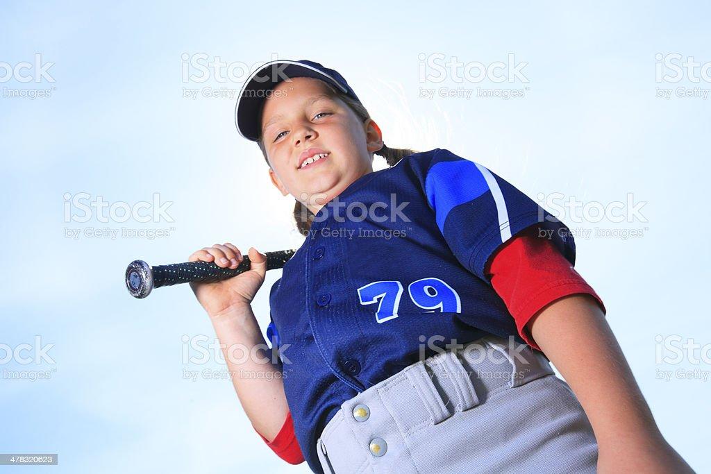 Baseball - Girl Hitter royalty-free stock photo