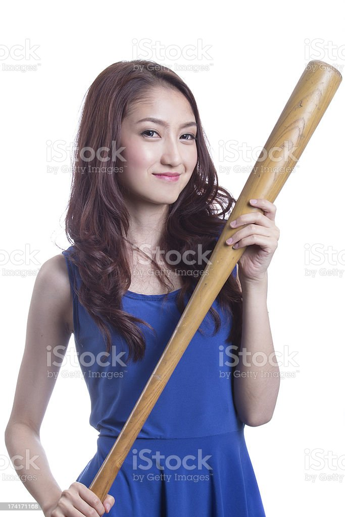 baseball girl royalty-free stock photo