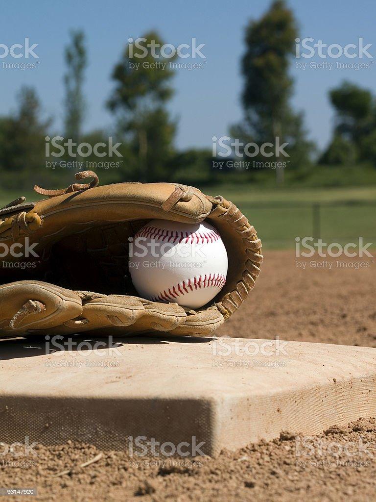 Baseball Glove and Ball - 2 stock photo