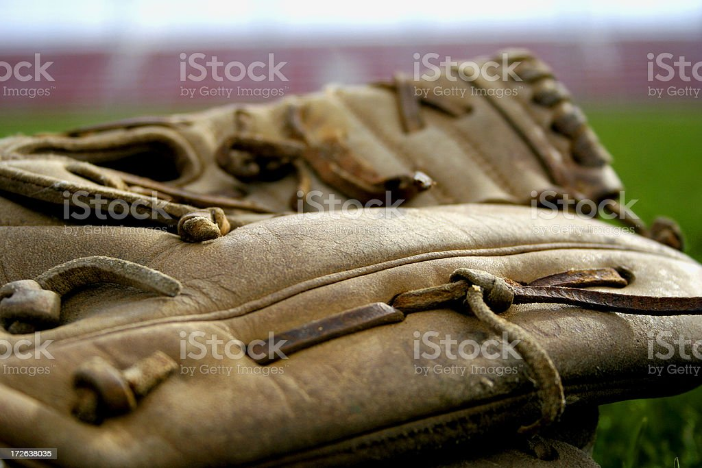 Baseball Glove Close Up royalty-free stock photo