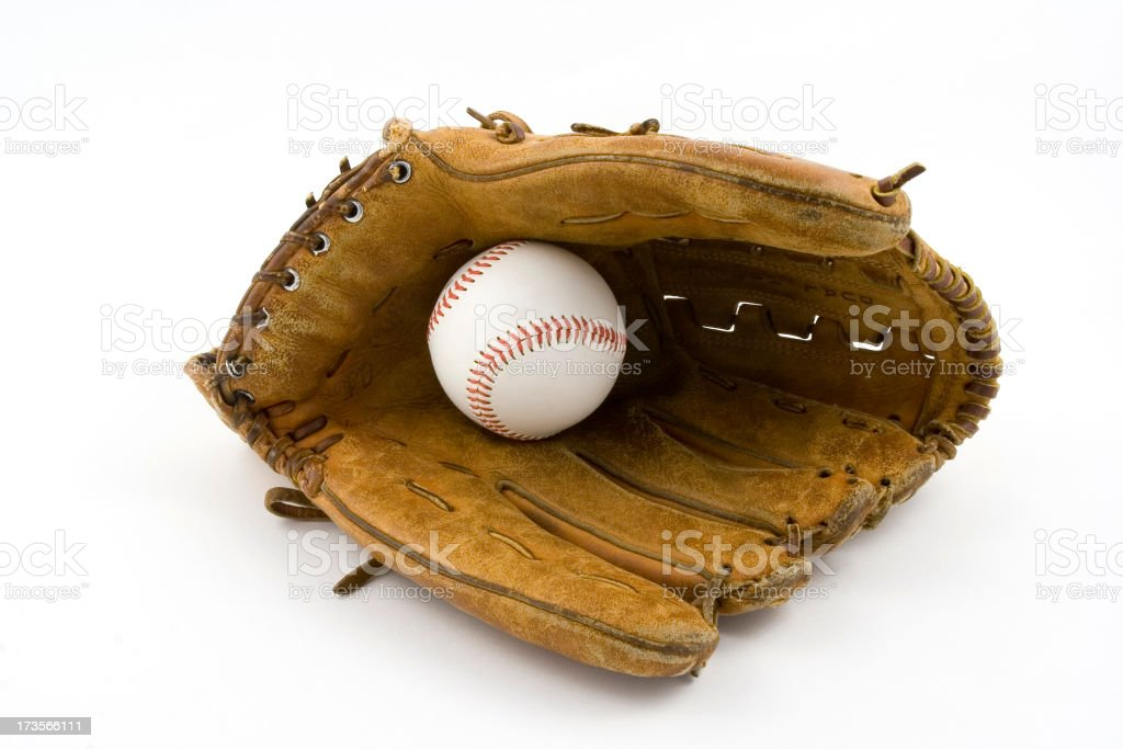 Baseball Glove Open with Ball royalty-free stock photo