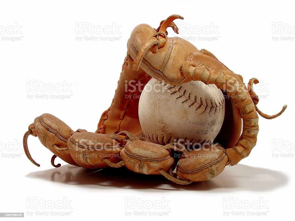 Baseball & glove stock photo