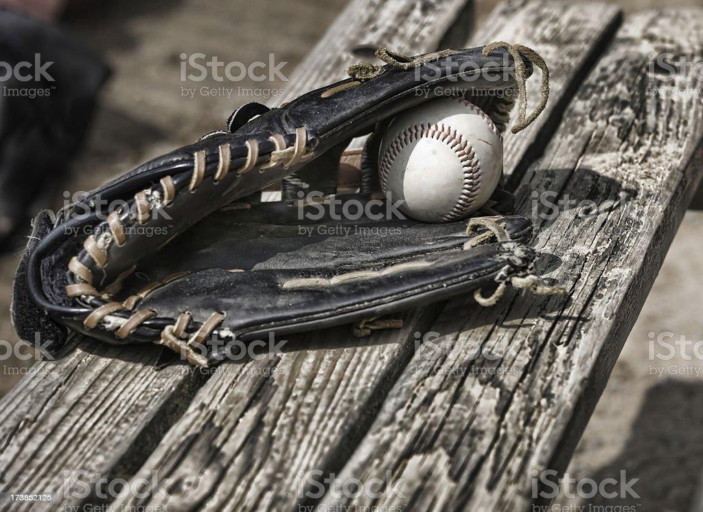 Baseball glove royalty-free stock photo