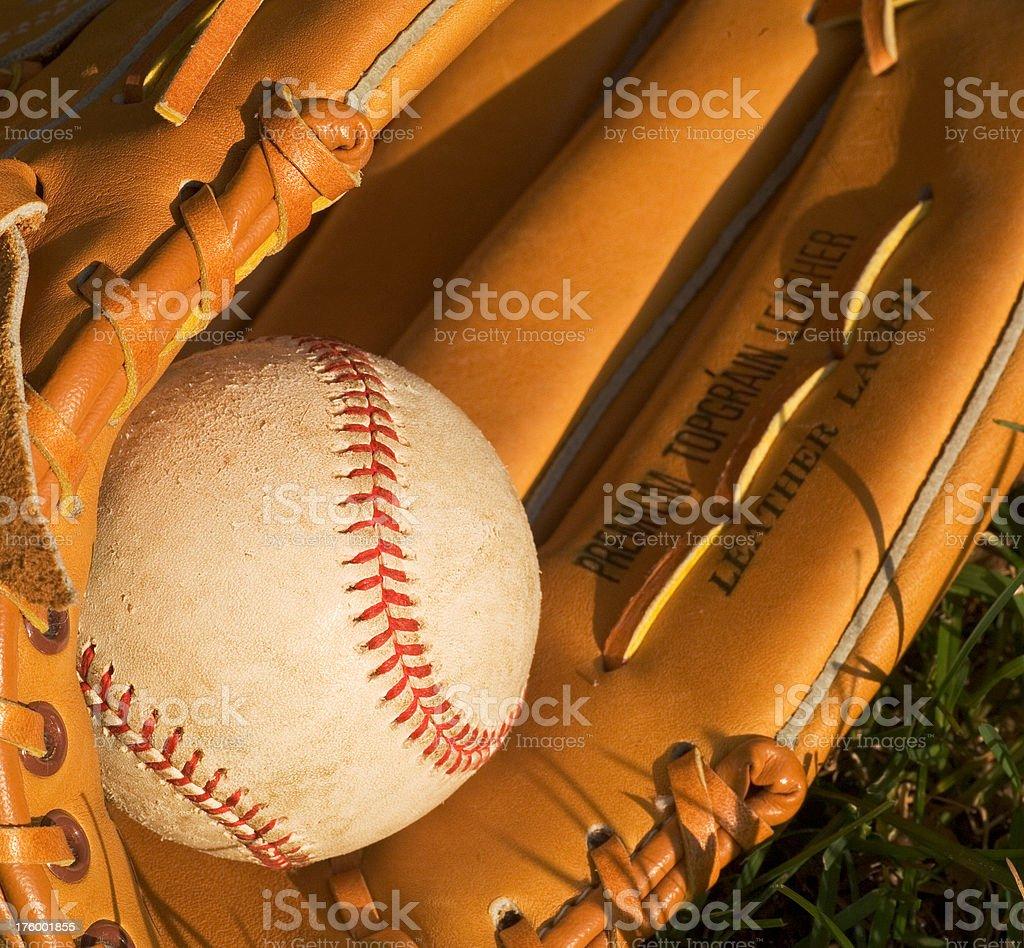 Baseball & Glove royalty-free stock photo
