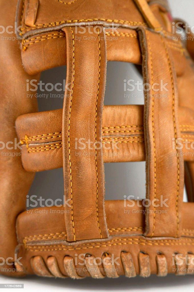 Baseball Glove Webbing royalty-free stock photo