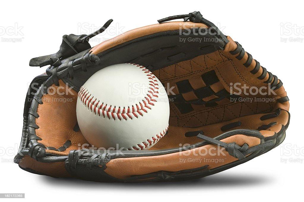Baseball Glove with Path royalty-free stock photo