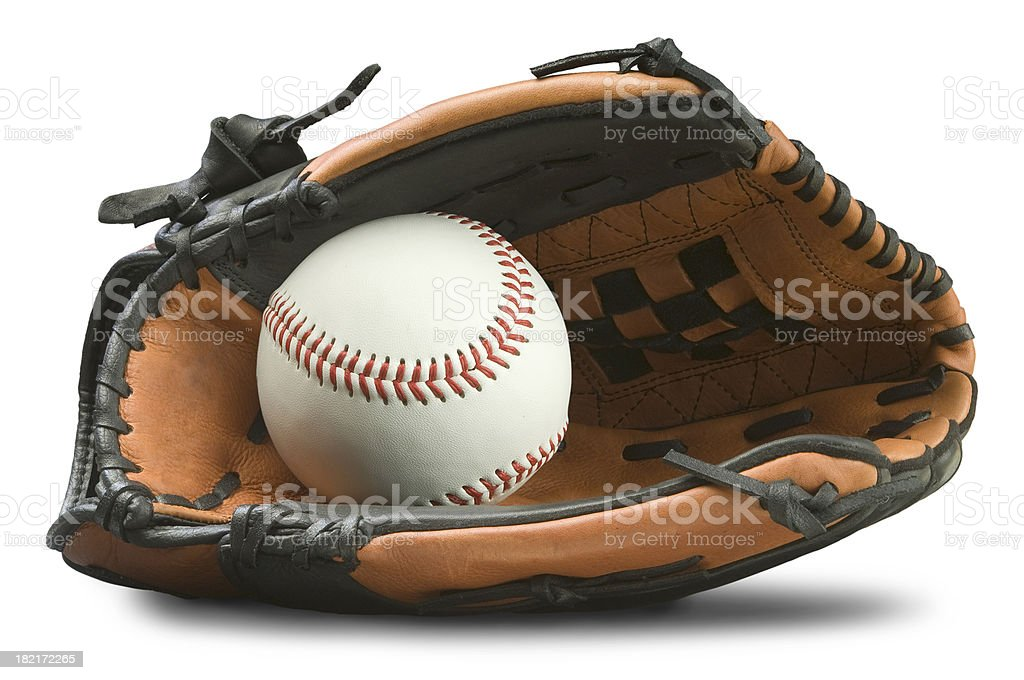 Baseball Glove with Path stock photo