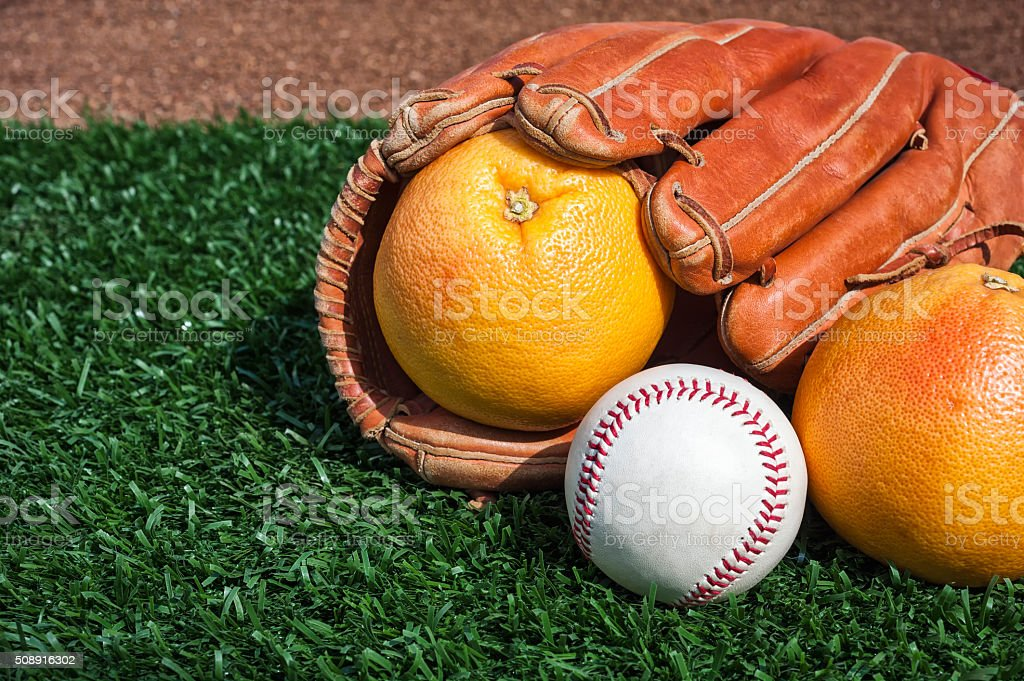 Baseball Grapefruit League, aka Spring Training stock photo