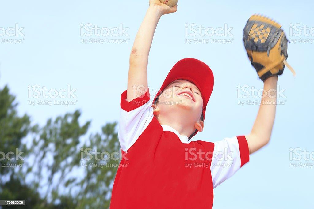 Baseball - Happy Victory Boy royalty-free stock photo