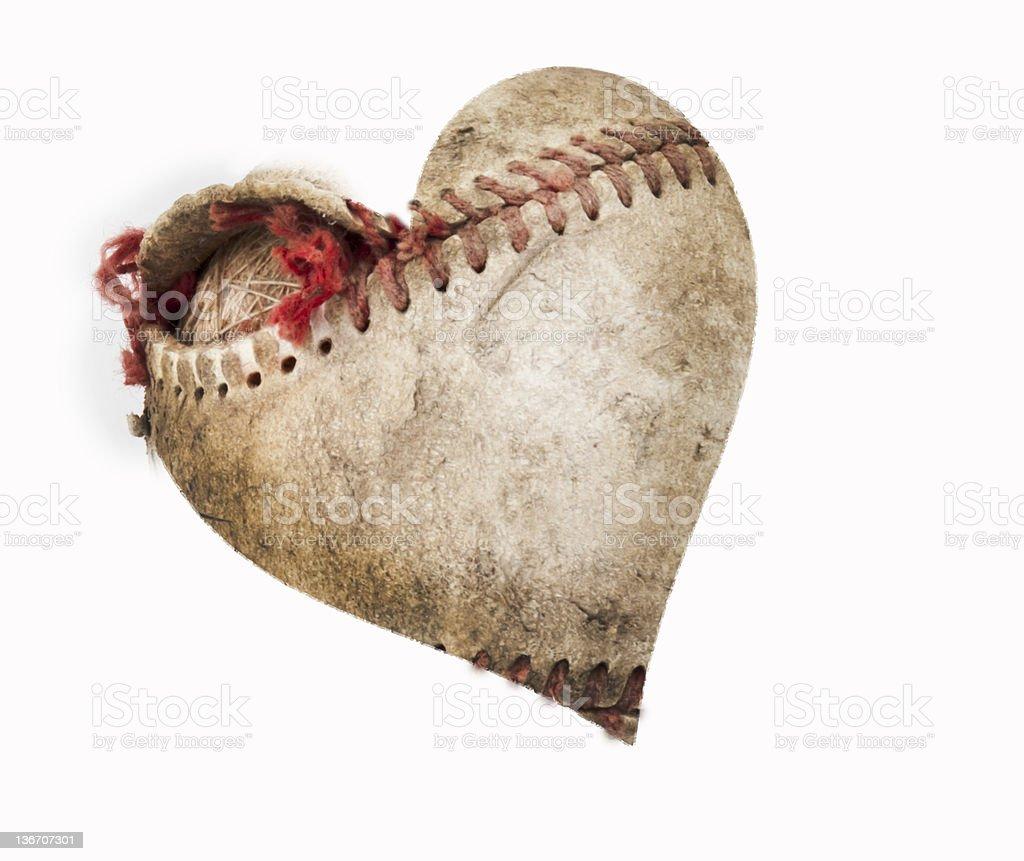 baseball heart royalty-free stock photo