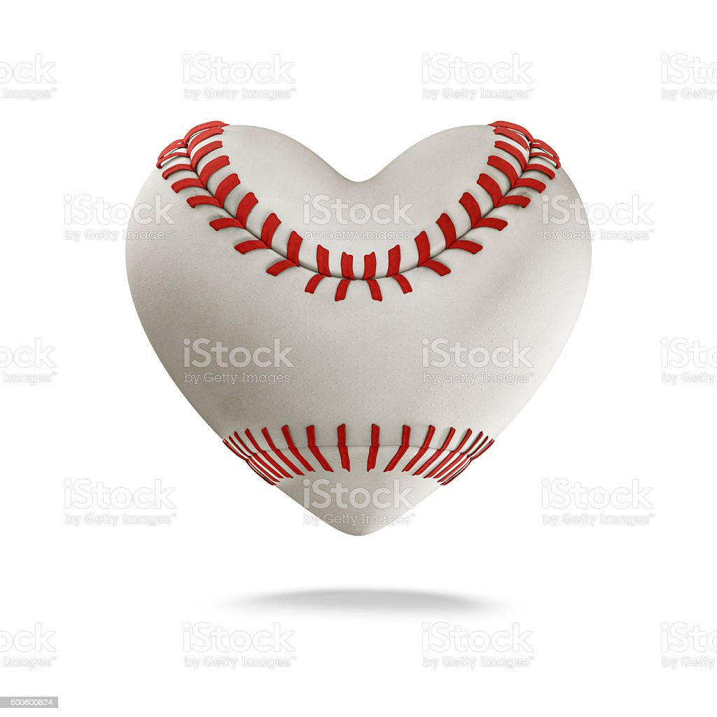 Baseball heart stock photo