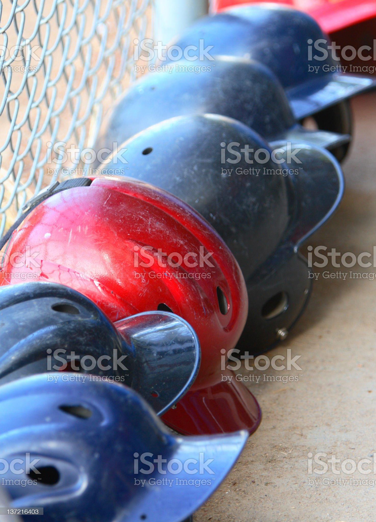 Baseball Helmets royalty-free stock photo