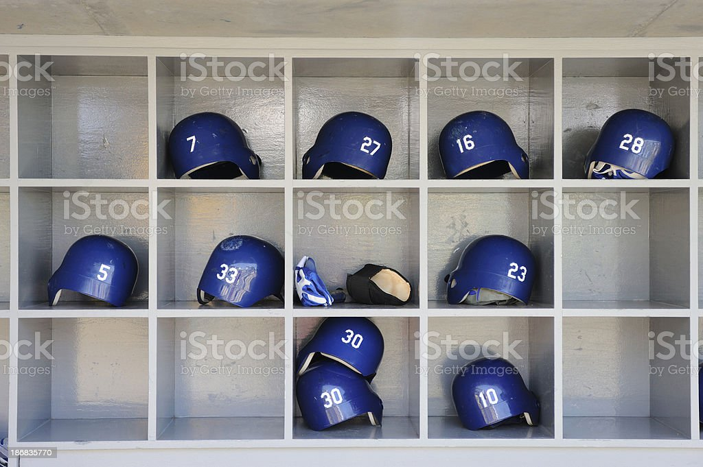 Baseball Helmets stock photo