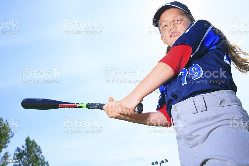 Baseball - Hit royalty-free stock photo