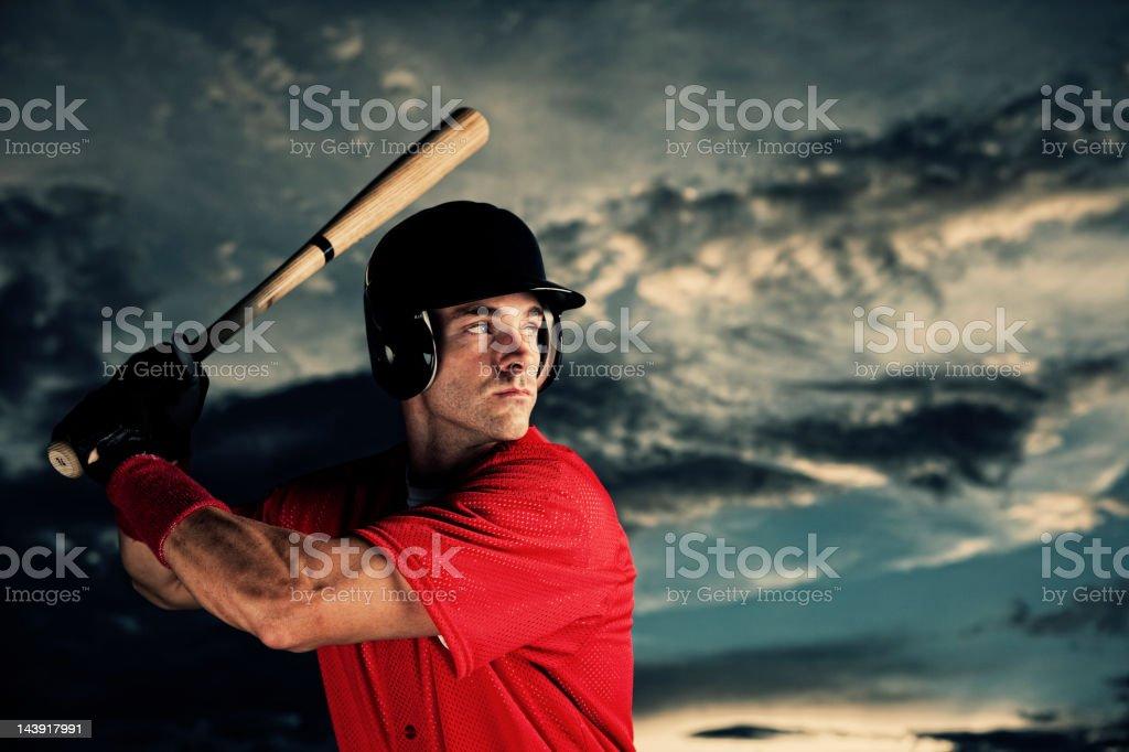 Baseball Hitter royalty-free stock photo