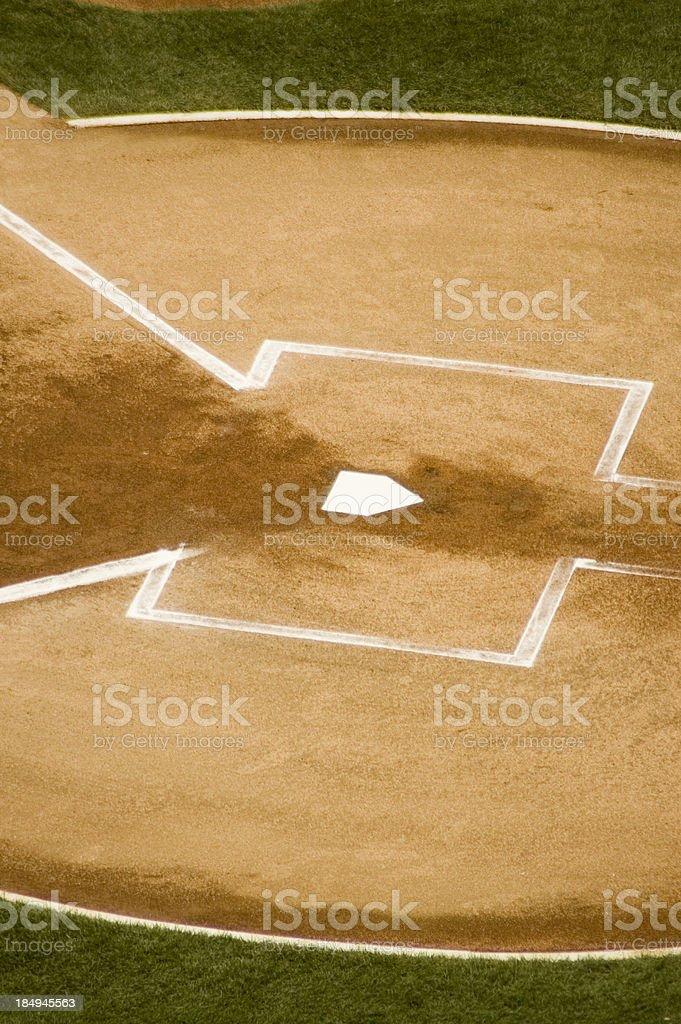 Baseball: Home Plate II royalty-free stock photo