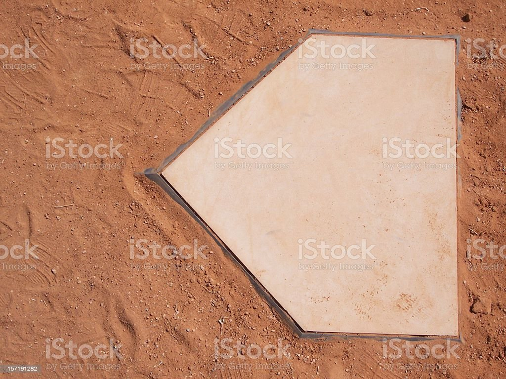 Baseball Home Plate stock photo