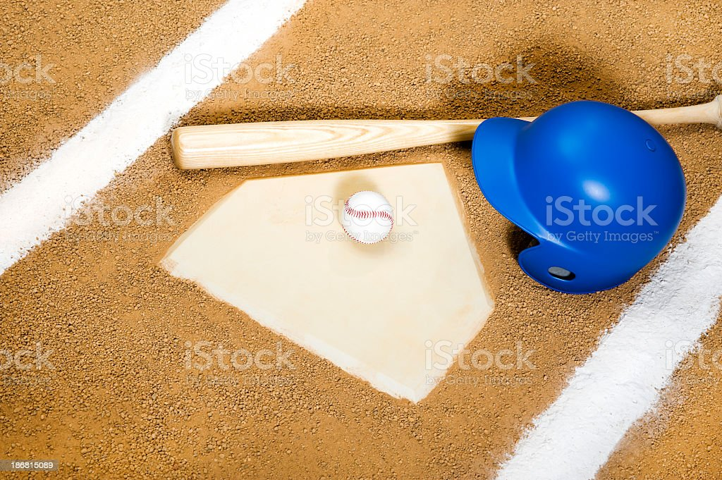 Baseball - Home Plate stock photo