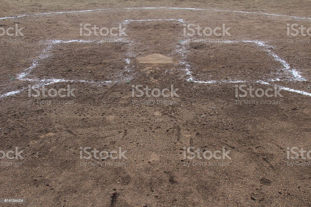 Baseball home-based stock photo
