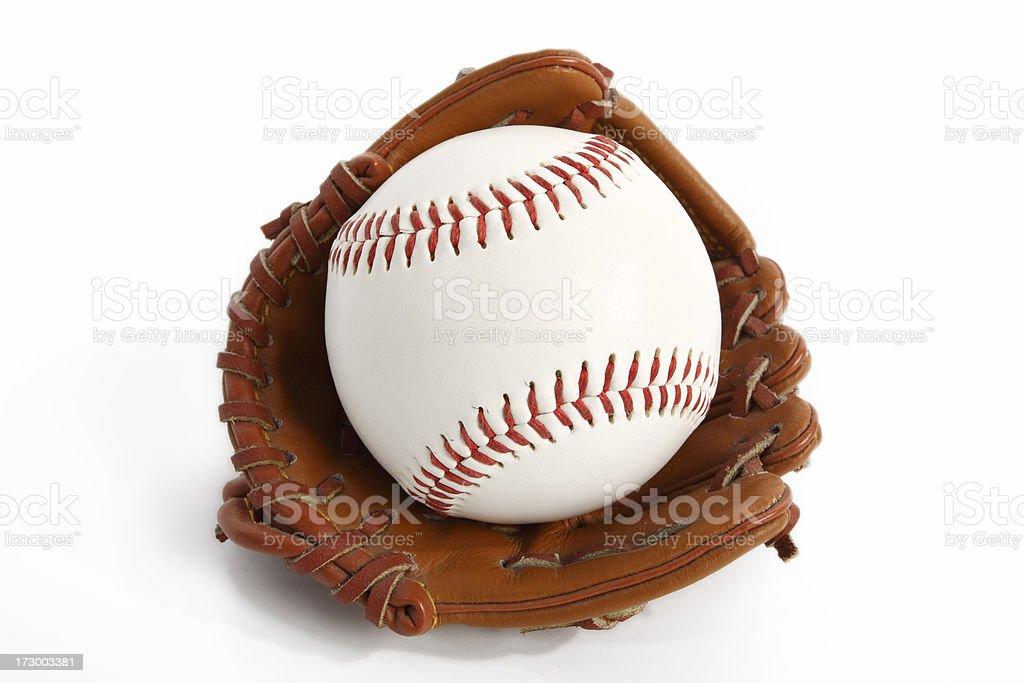Baseball in Glove royalty-free stock photo