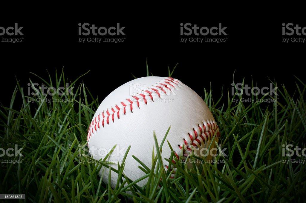 Baseball in Grass royalty-free stock photo