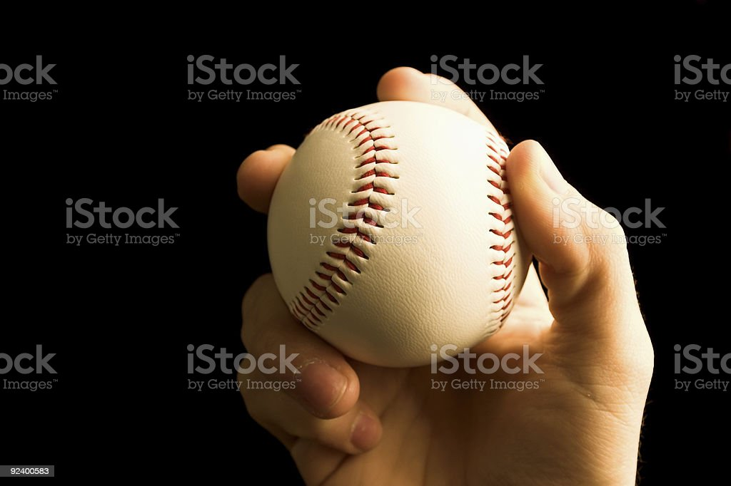 Baseball In Hand royalty-free stock photo