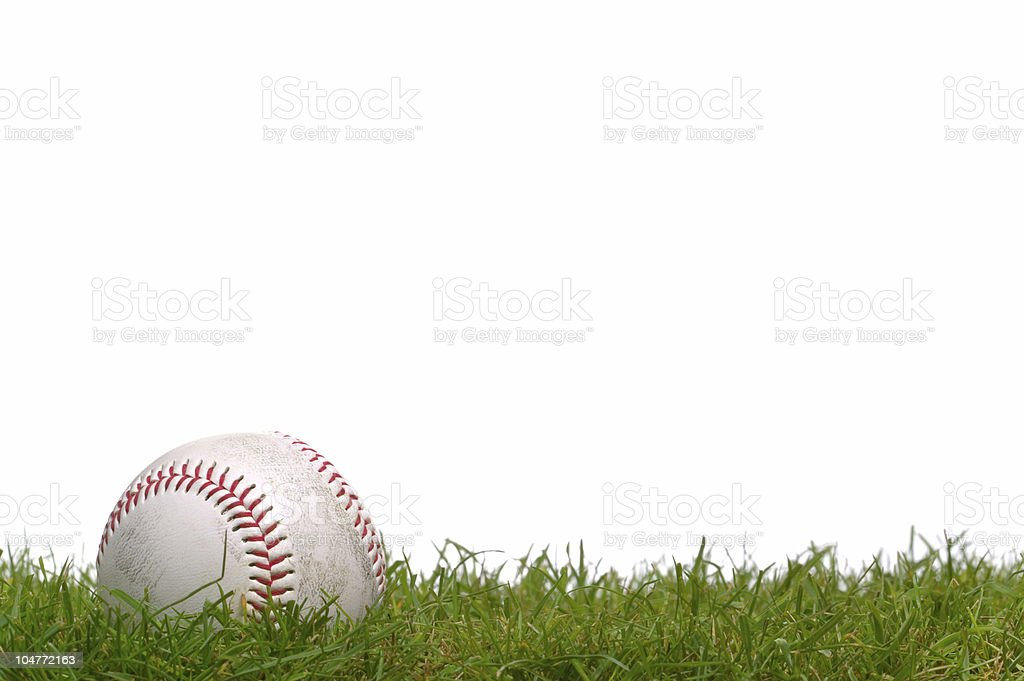 Baseball in the grass royalty-free stock photo