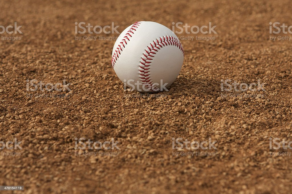 Baseball in the Infield royalty-free stock photo