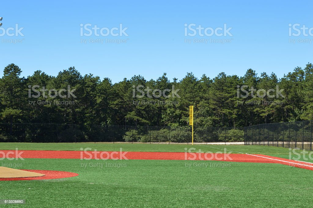 baseball in the pine barons stock photo