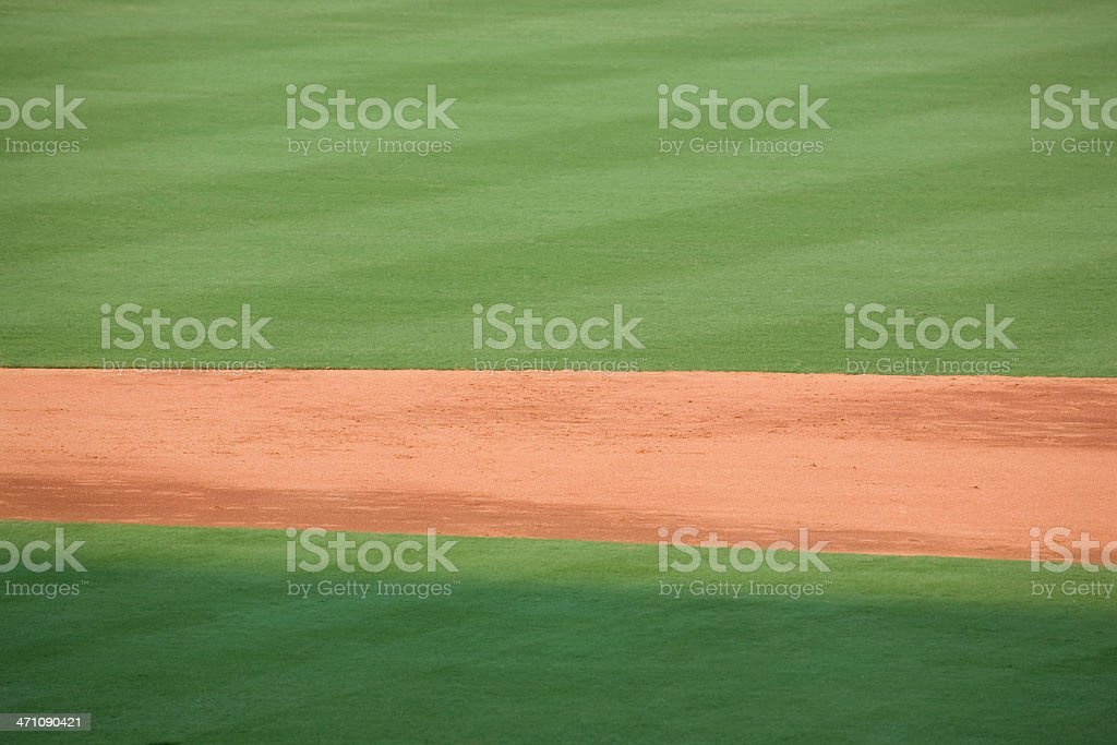 baseball infield and outfield stock photo