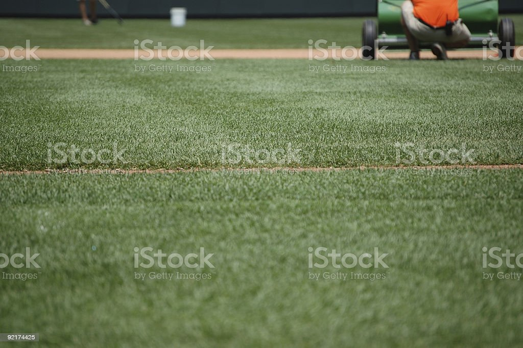Baseball infield royalty-free stock photo