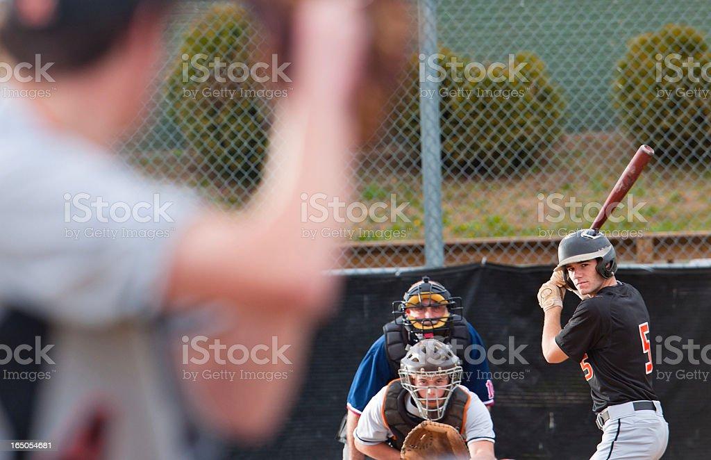 Baseball is a chess match stock photo