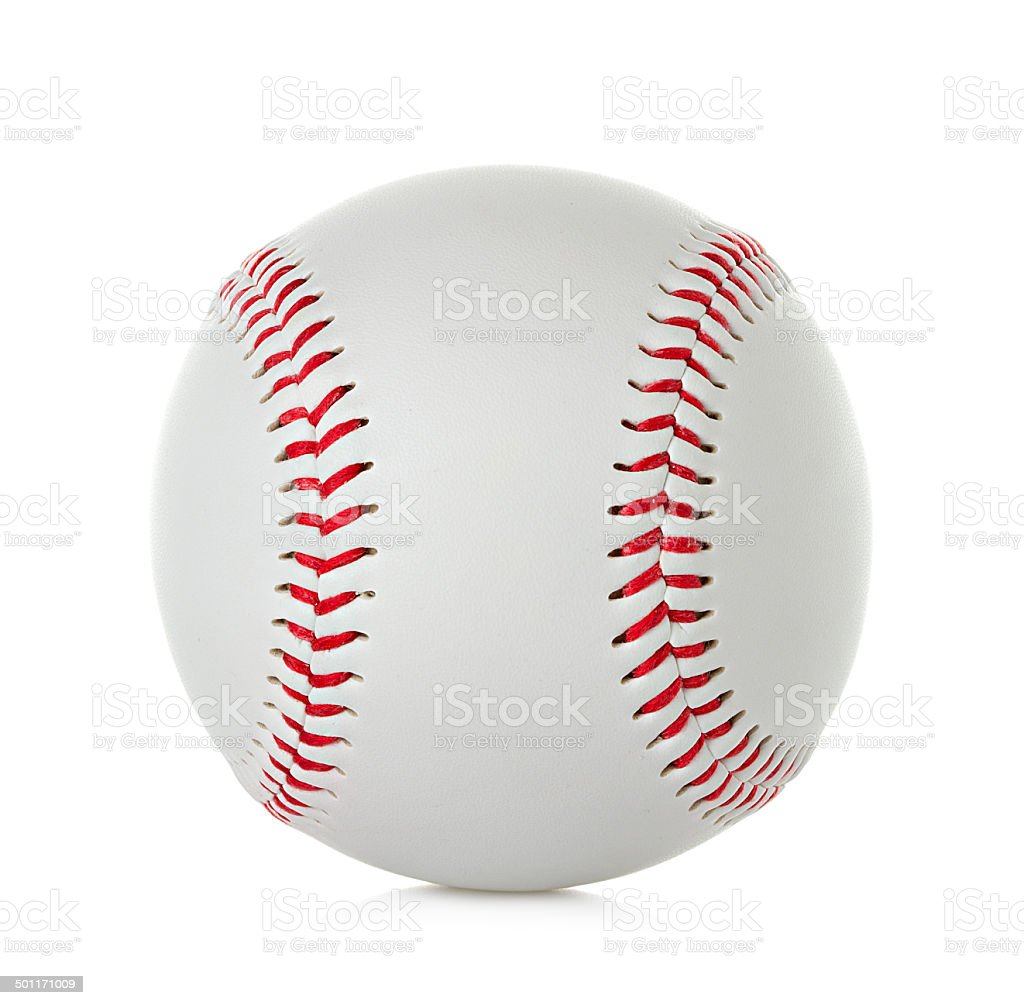 Baseball isolated on white background stock photo