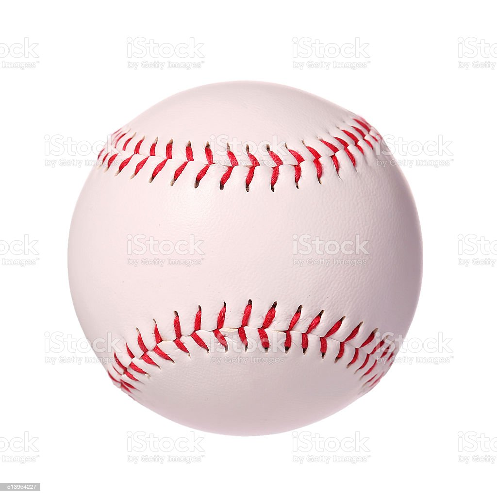 Baseball isolated on white. Ball stock photo