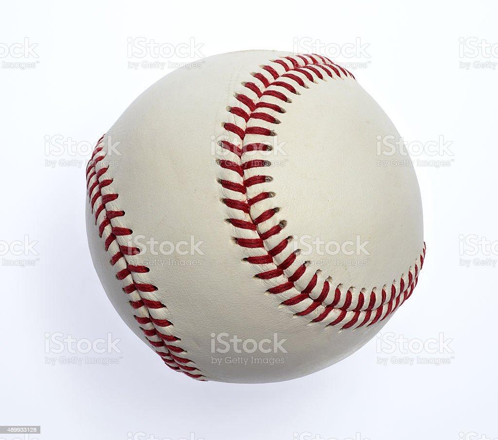 Baseball isolated on white stock photo