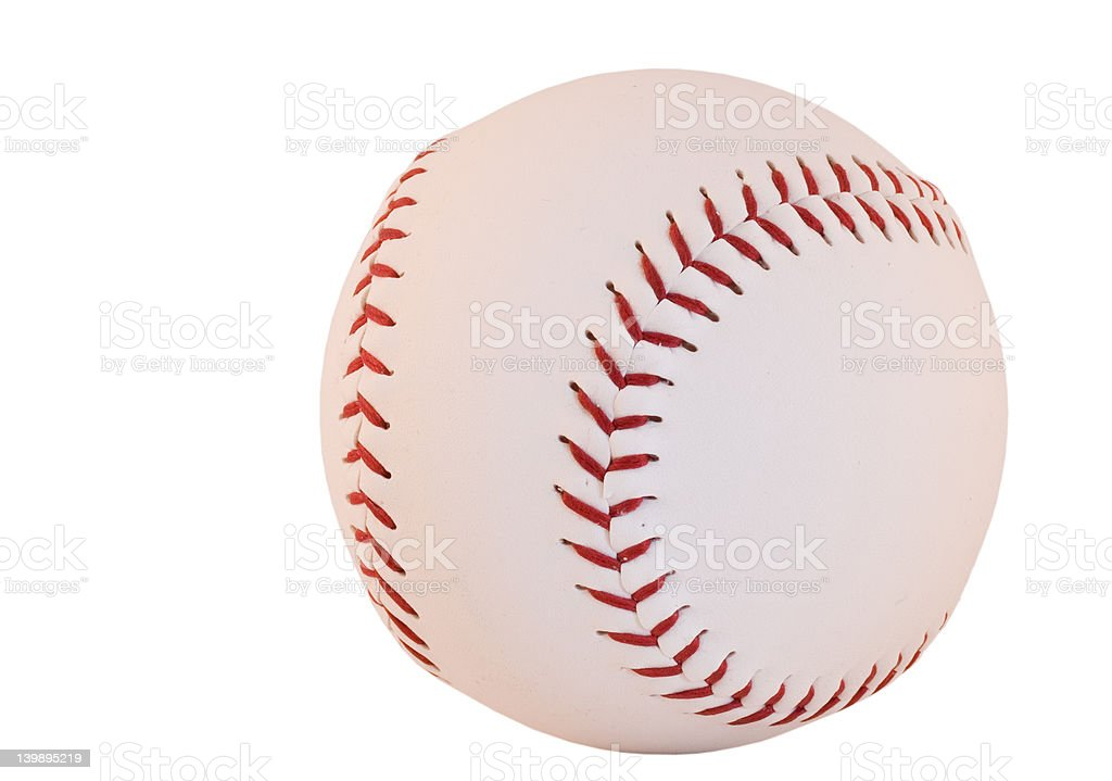 Baseball isolated royalty-free stock photo