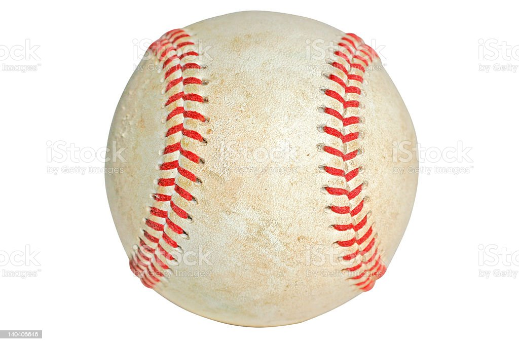 Baseball Isolated with Clipping Path royalty-free stock photo