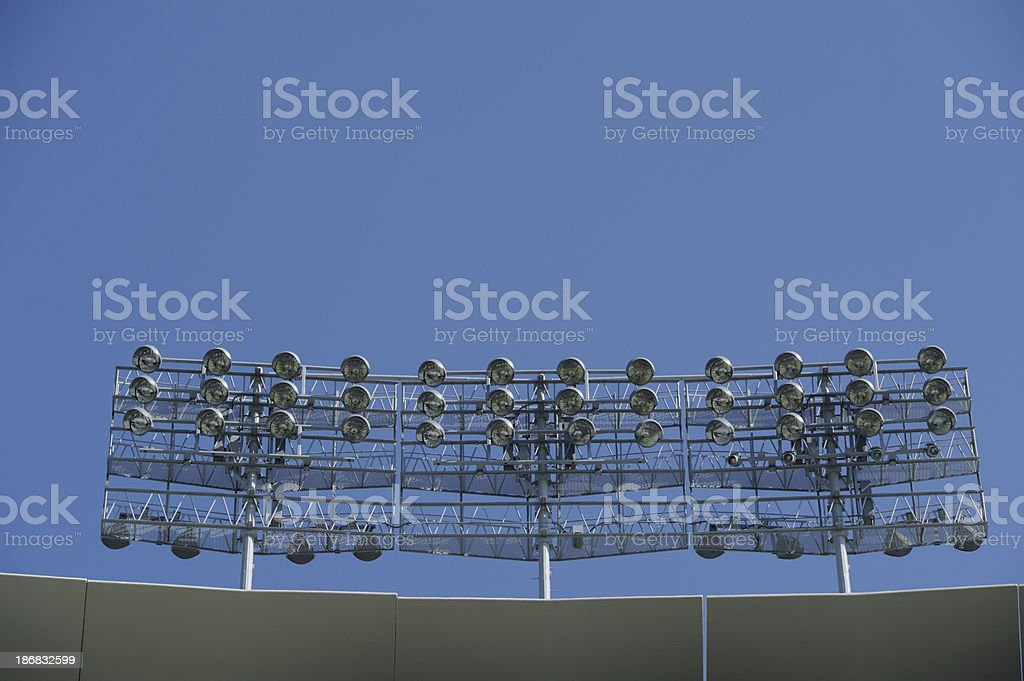 Baseball lights stock photo