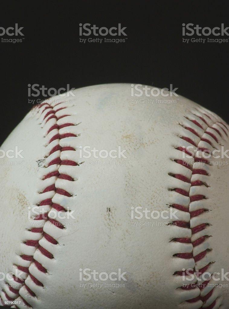 Baseball Macro royalty-free stock photo