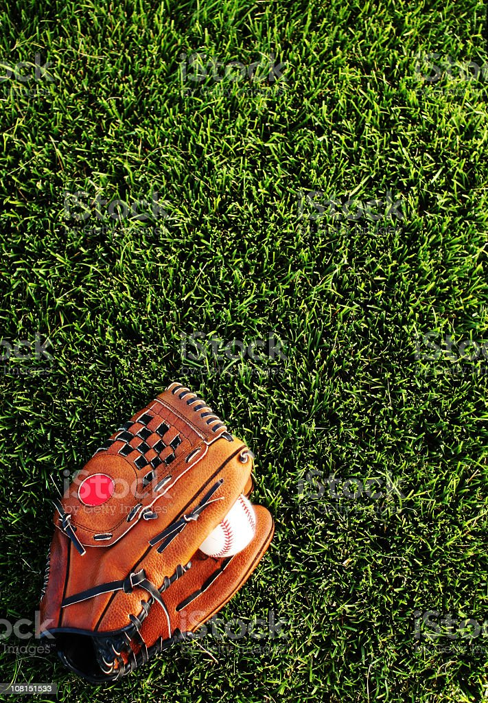 Baseball Mitt Background royalty-free stock photo