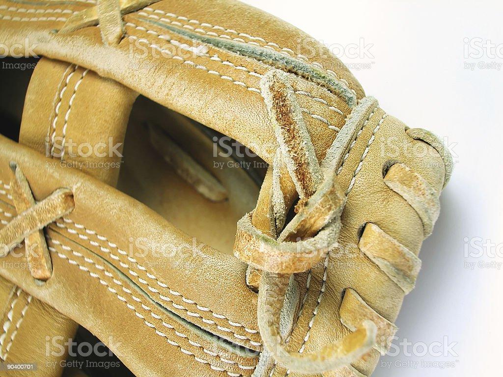Baseball Mitt-Macro royalty-free stock photo