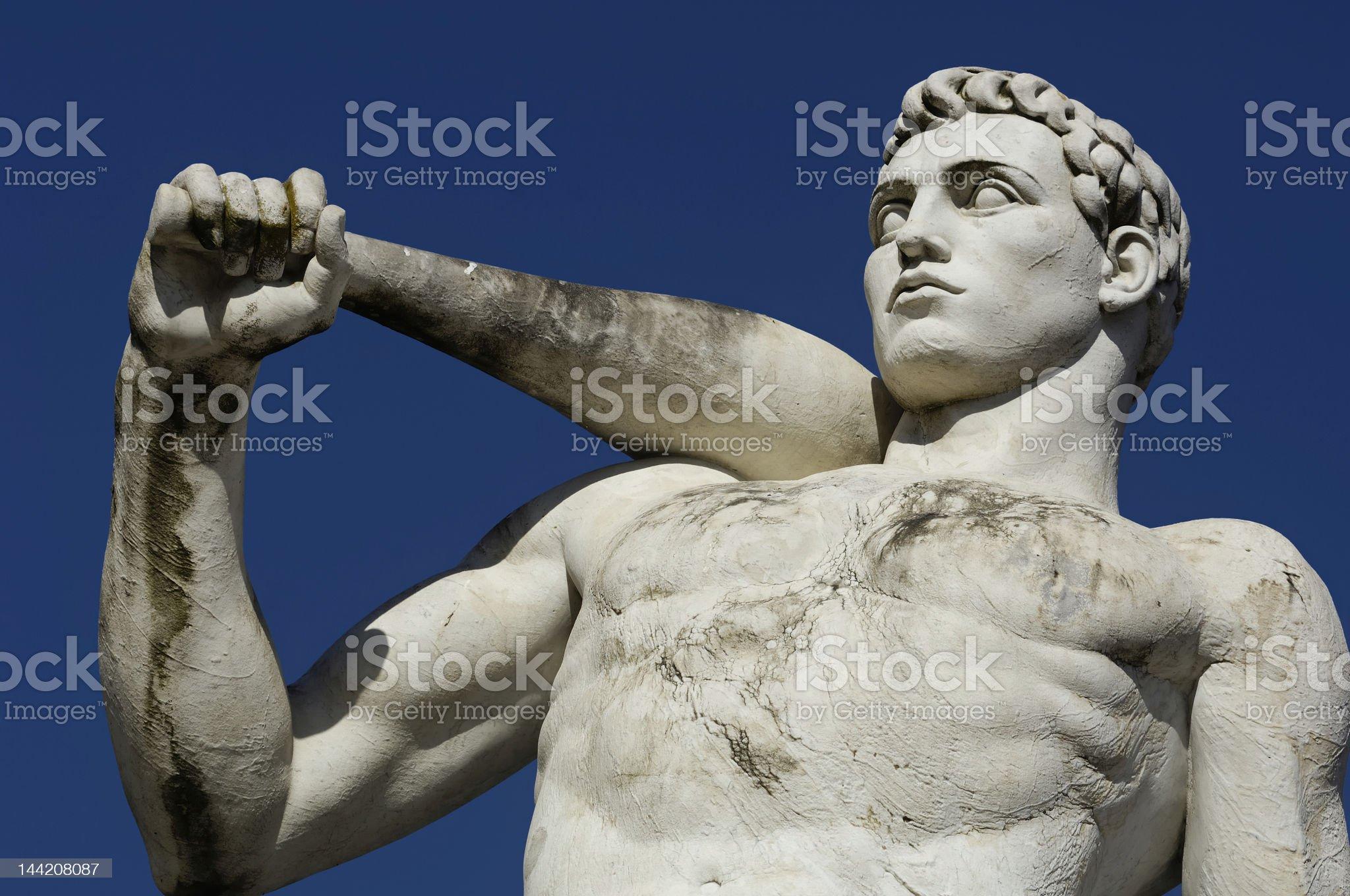 baseball modern sculpture royalty-free stock photo