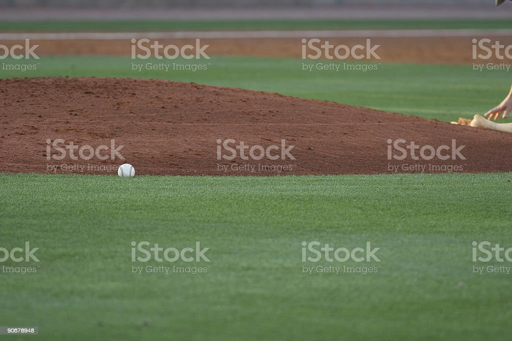 Baseball mound royalty-free stock photo