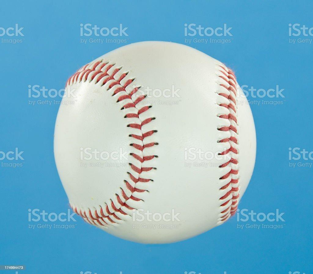 Baseball on Blue royalty-free stock photo
