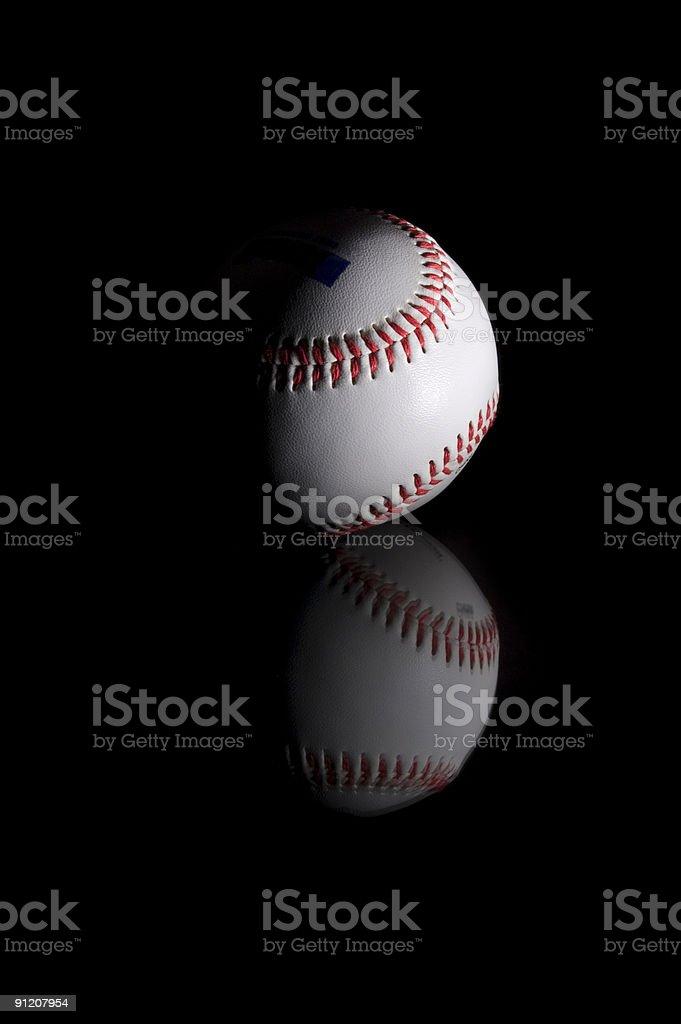 Baseball on glass royalty-free stock photo