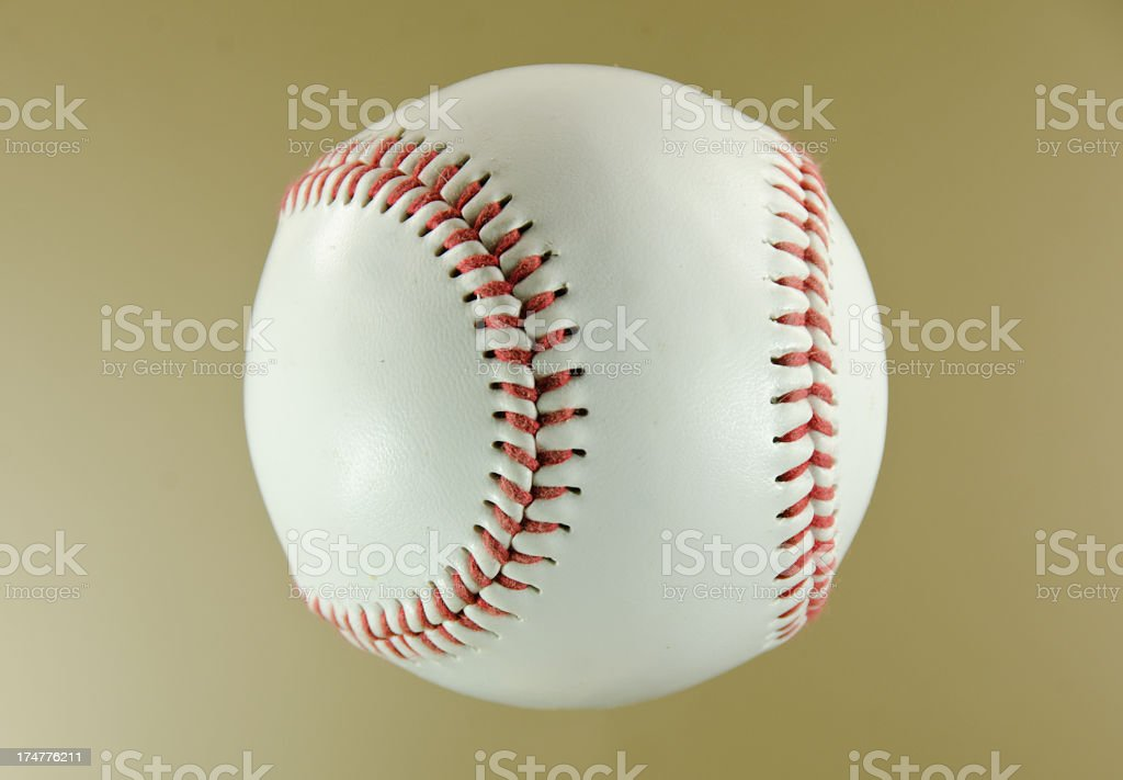Baseball on Gold royalty-free stock photo